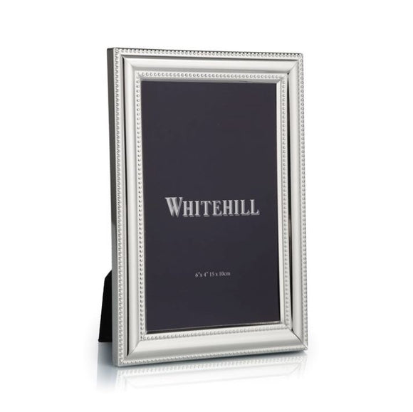 Whitehill Studio - Silverplated Beaded Photo Frame 10cm x 15cm