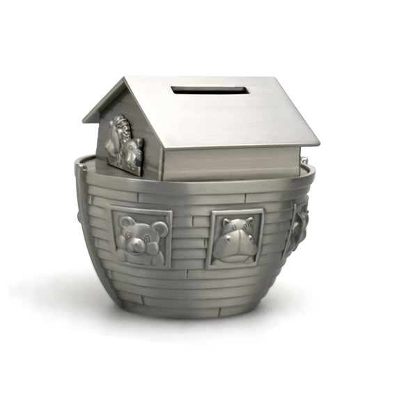 Whitehill Baby - Noah's Ark Pewter Effect Money Box