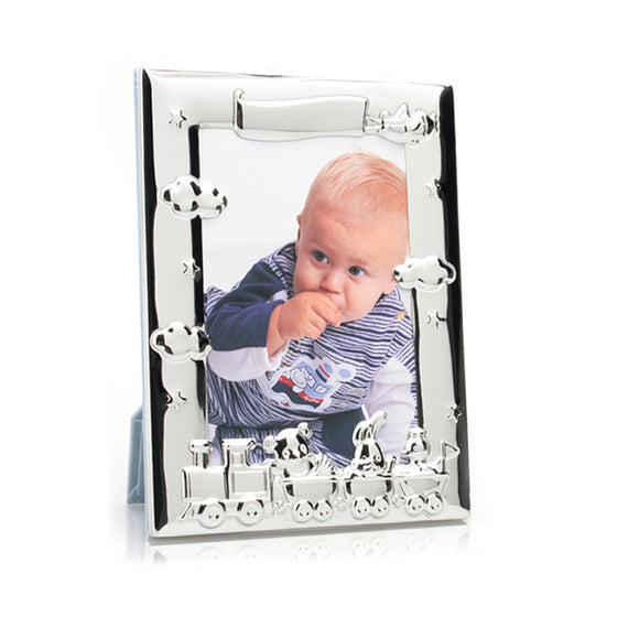 Whitehill Baby - Silverplated Nursery Train Photo Frame 10cm x 15cm