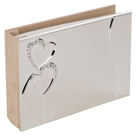 WHITEHILL - SILVER EVERLASTING HEARTS GUESTBOOK