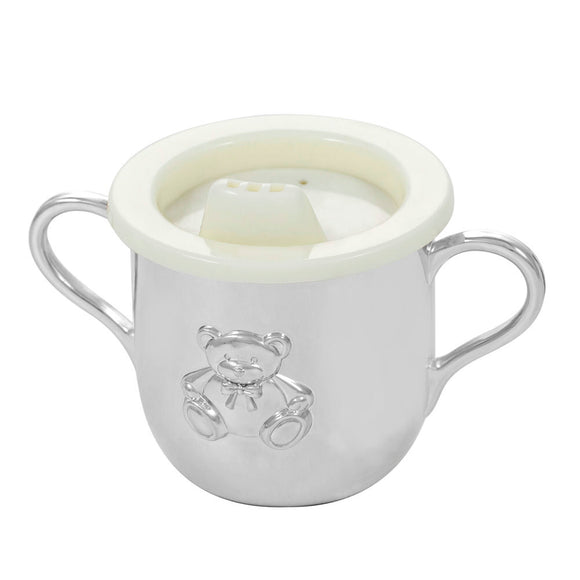 Whitehill Baby - Silverplated Teddy Bear 2-Handled Child's Cup