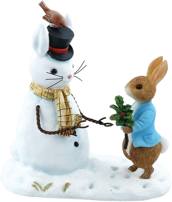 Beatrix Potter Mini Figurine  Peter Rabbit and Snow Rabbit
