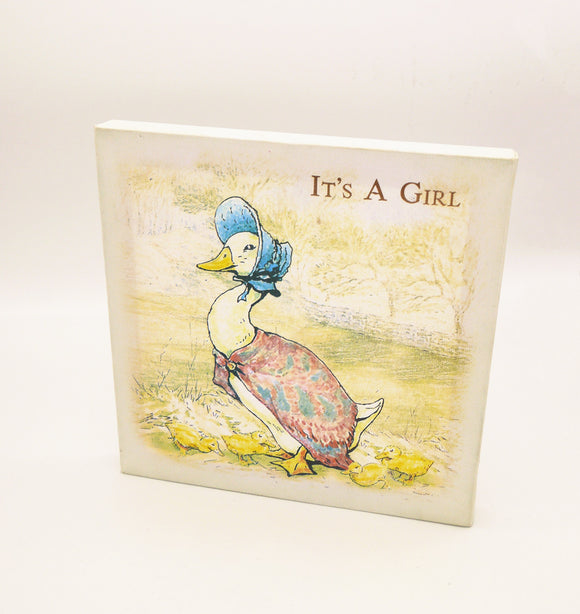 Beatrix Potter Jemima Puddle Duck - NEW BABY CANVAS PRINT
