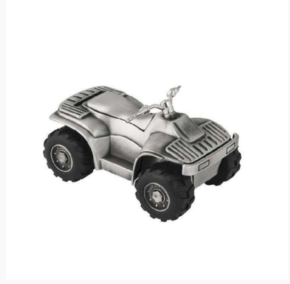 Money Bank - Quad Bike Pewter Finish - Gifts for Kids