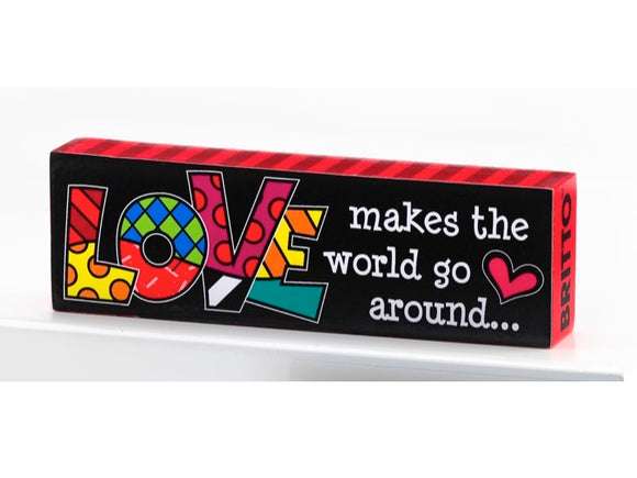 Britto Table Plaque - Love