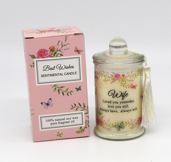 Scented Wishes Candle In The Jar Wife