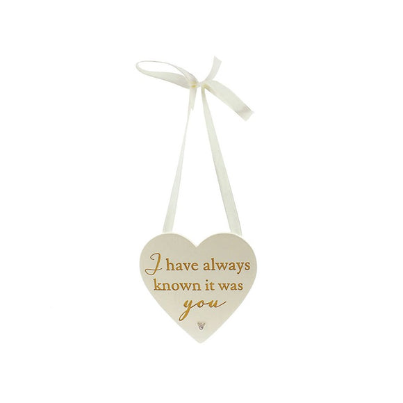 I HAVE ALWAYS - HEART PLAQUE AMORE WG582