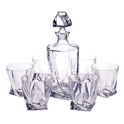 Quadro Whiskey Crystal Set Decanter