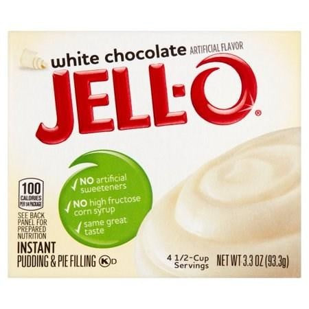 Jello White Chocolate Instant Pudding & Pie Filling 93g