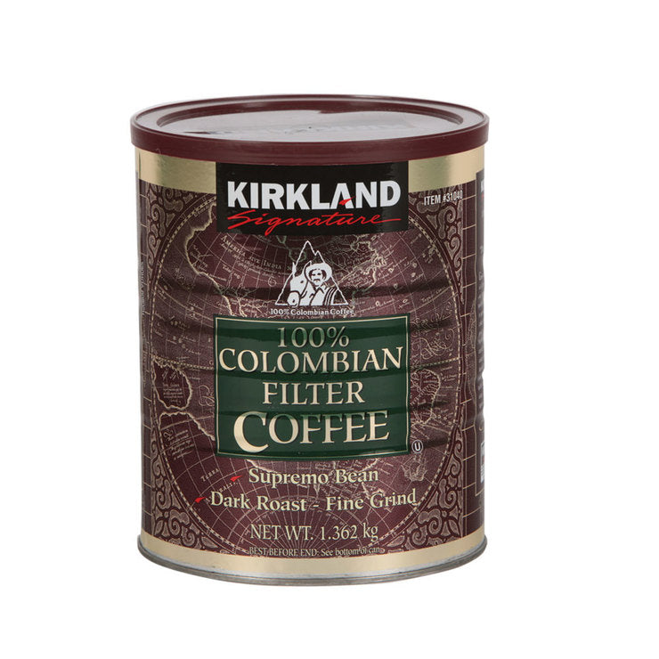Kirkland Signature 100% Colombian Ground Supremo Coffee 1.36KG