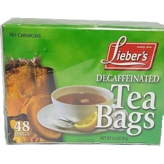 Liebers Decaffeinated Tea Bags 48 Pack