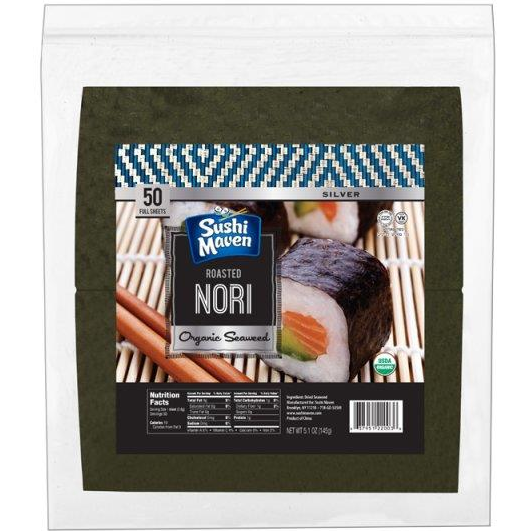 Sushi Maven Roasted Nori Sheets 50 Pack