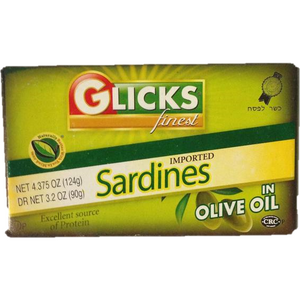 Glicks Sardines In Olive Oil 116G