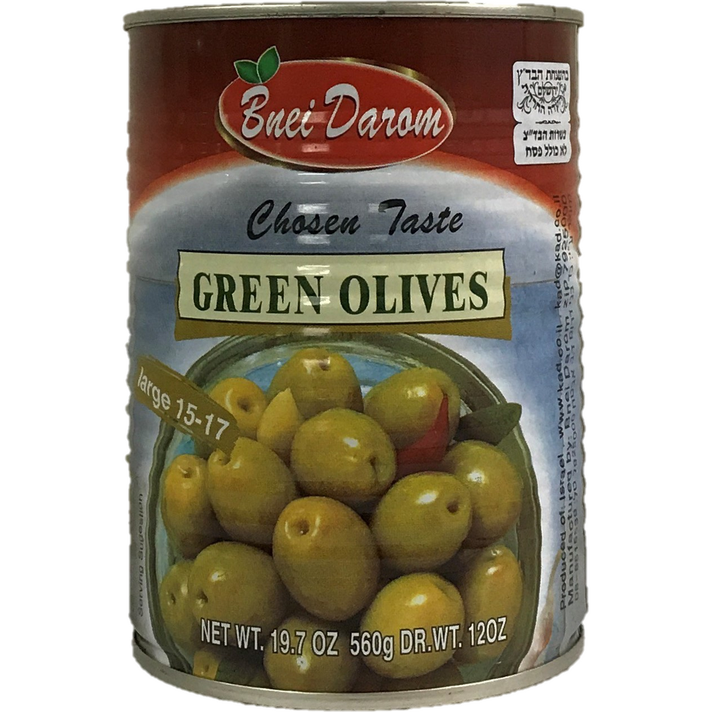 Bnei Darom Green Olives 560G