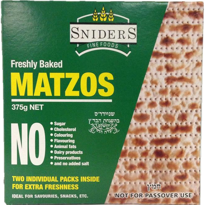 Sniders Regular Matzot 375G