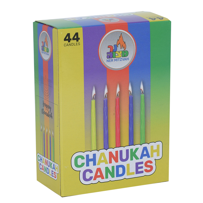 Colourful Chanukah Candles /Birthday Candles 44 Pack