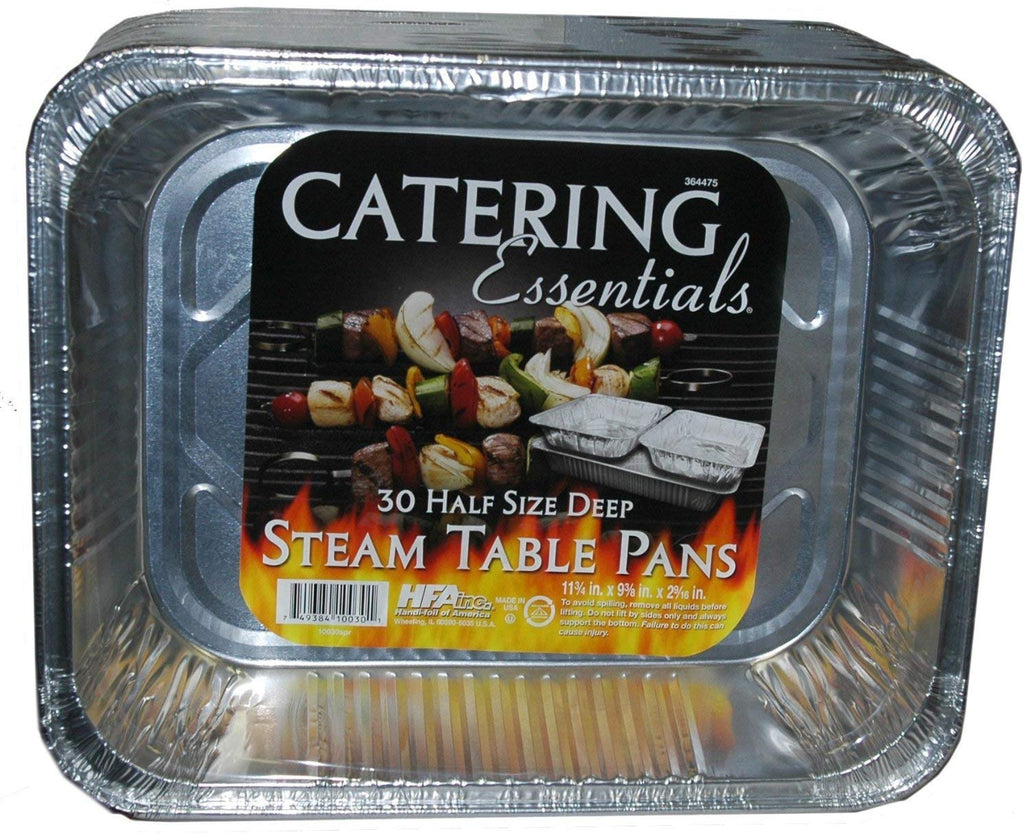 Catering Essentials Steam Table Pans Half Size. 30 Pieces