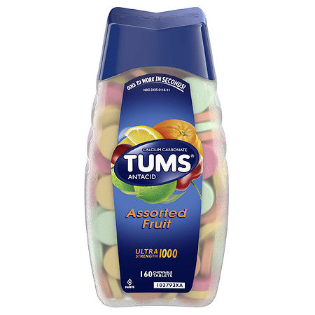 Tums Antacid Assorted Fruit Ultra Strength 1000 160 Tablets