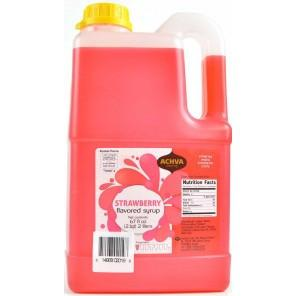Achva Syrup Strawberry Flavoured 2L