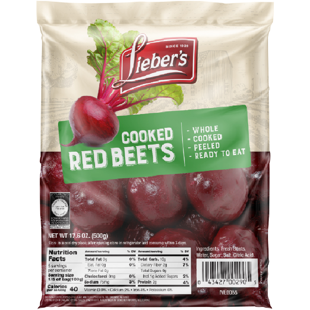 Liebers Cooked Red Beets Whole 500G