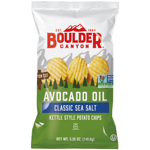 Boulder Canyon Crinkle Cut Avocado Oil Sea Salt Chips 148g