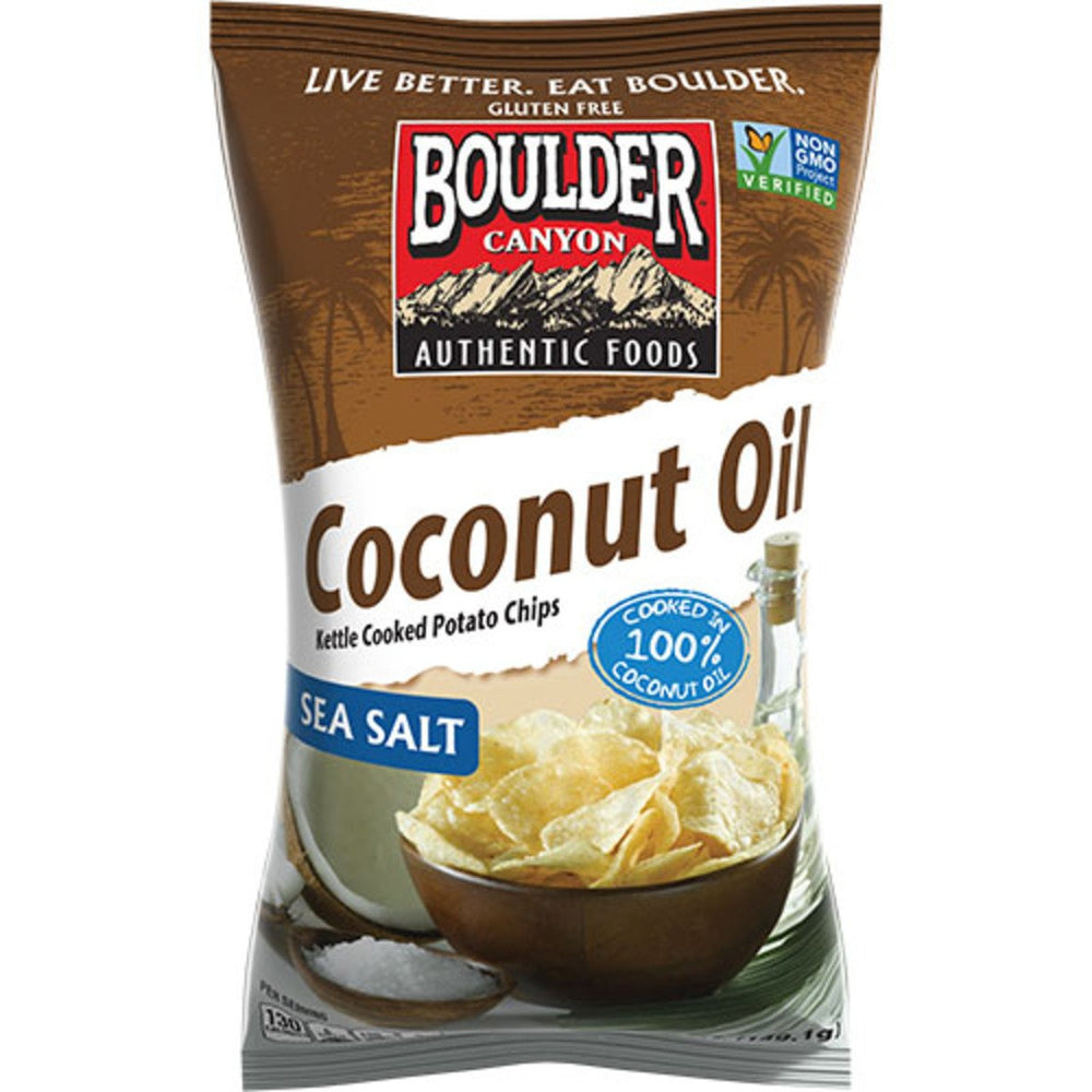Boulder Canyon Coconut Oil Sea Salt Kettle Chips 142g