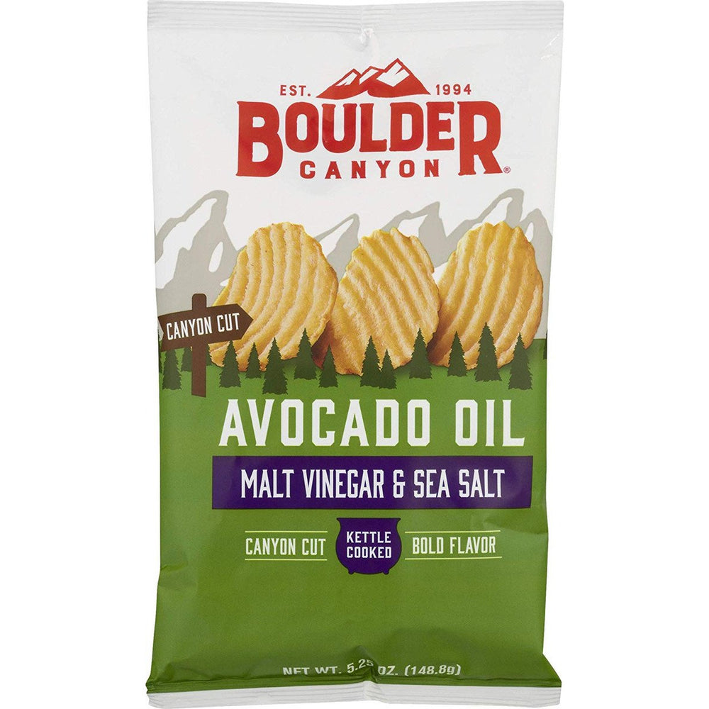 Boulder Canyon Crinkle Cut Avocado Oil Malt Vinegar & Sea Salt 148g