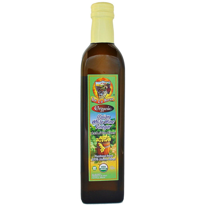 Dela Rosa Italian Wine Vinegar White - Organic 500Ml