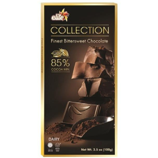 Elite Bitter Sweet Chocolate 85 % 100G