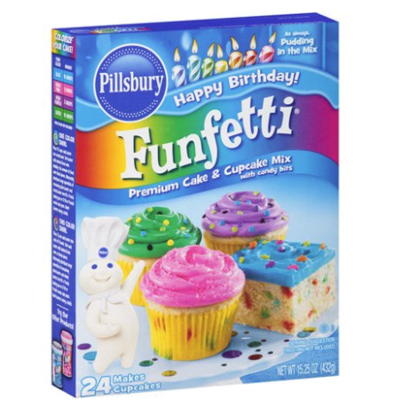 Pillsbury Funfetti Cake Mix 432g