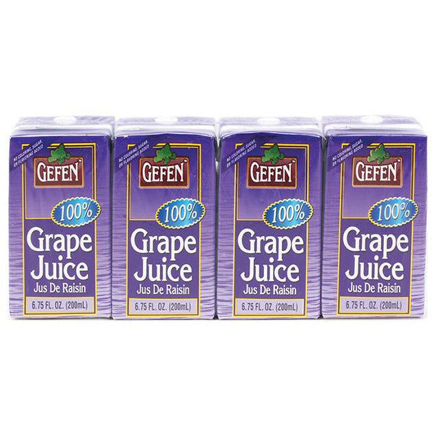 Gefen 100% Grape Juice Prima 4 Pack 200Ml