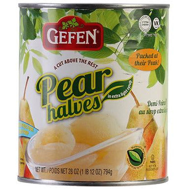 Gefen Pear Halves In Light Syrup 822G