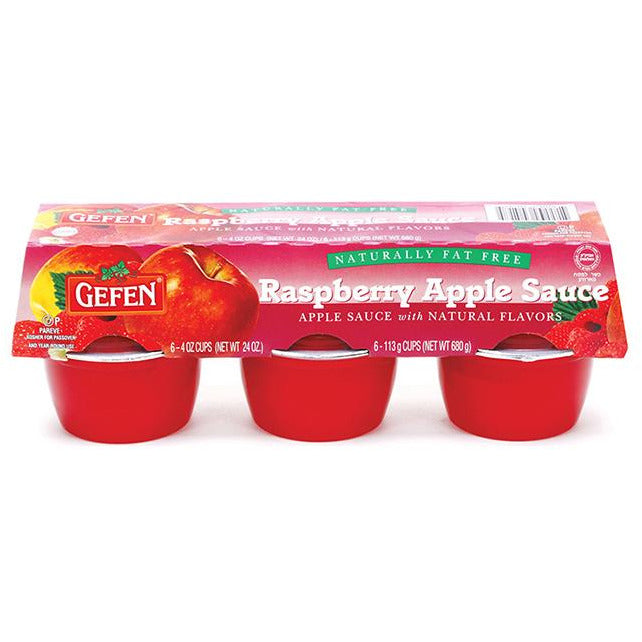 Gefen Raspberry & Apple Sauce 6-Pack x 113G