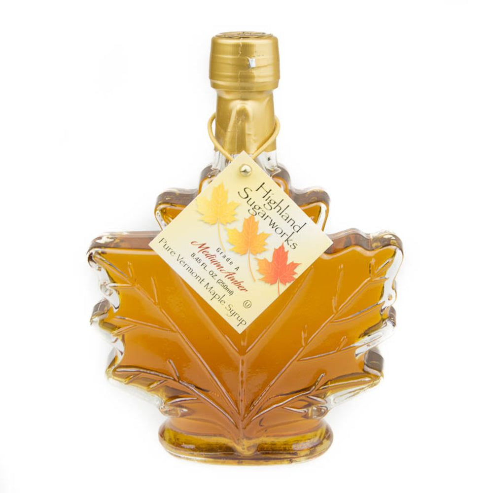 Highland Sugarworks Pure Vermont Maple Syrup Leaf 250ml
