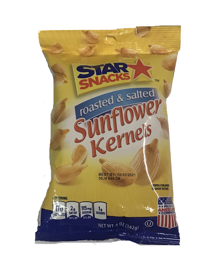 Star Snacks Sunflower Kernels Roasted & Salted 142 g
