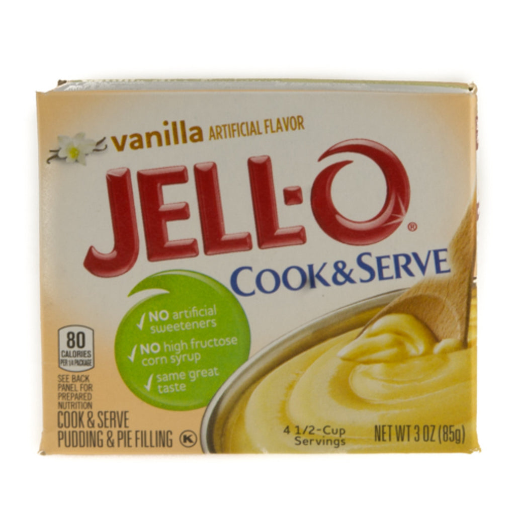 Jello Cook & Serve Vanilla Pudding & Pie Filling 85g