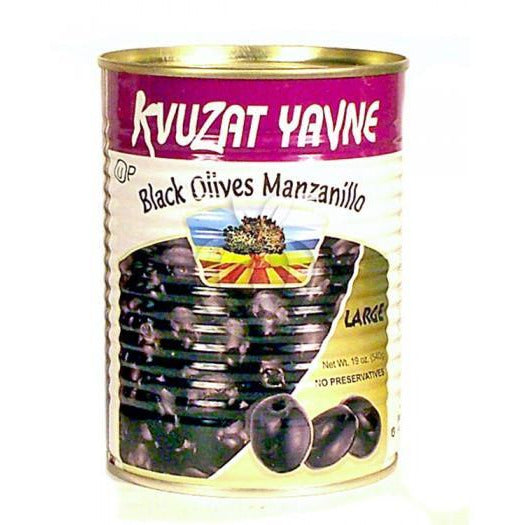 Kvuzat Yavne Black Olives Whole 540G