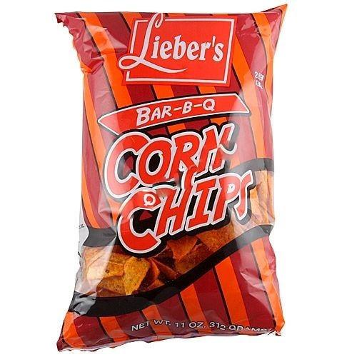 Liebers Bbq Corn Chips Large 312G