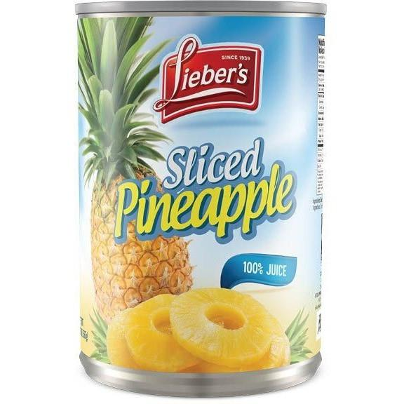 Liebers Sliced Pineapple 565G