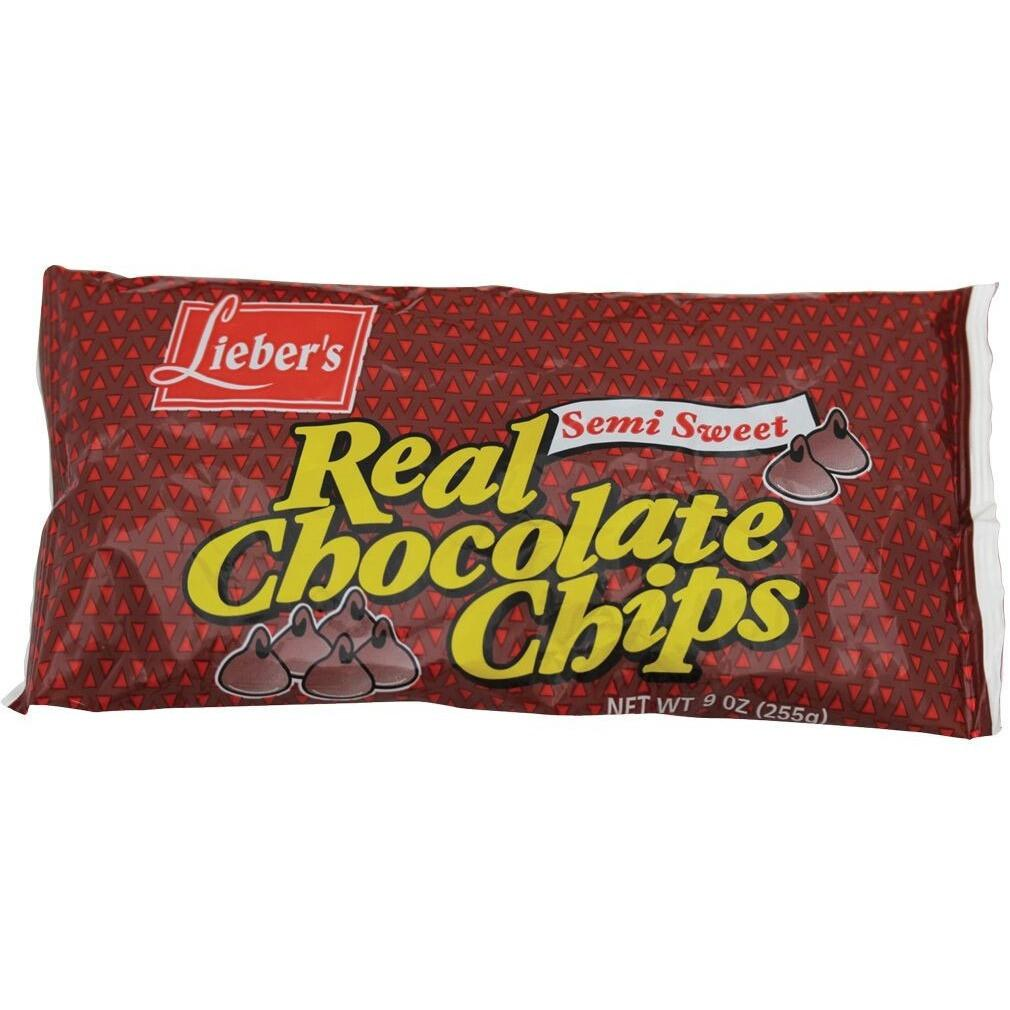 Liebers Real Chocolate Chips 255G