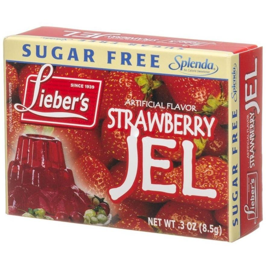 Liebers Sugar Free Stawberry Jelly 8.5G