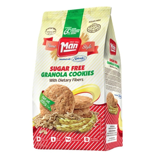 Man Cookie Bag Granola Sugar Free 200G