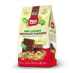 Man Cookie Bag Mini Wholewheat & Oatmeal Chocolate 250Gr