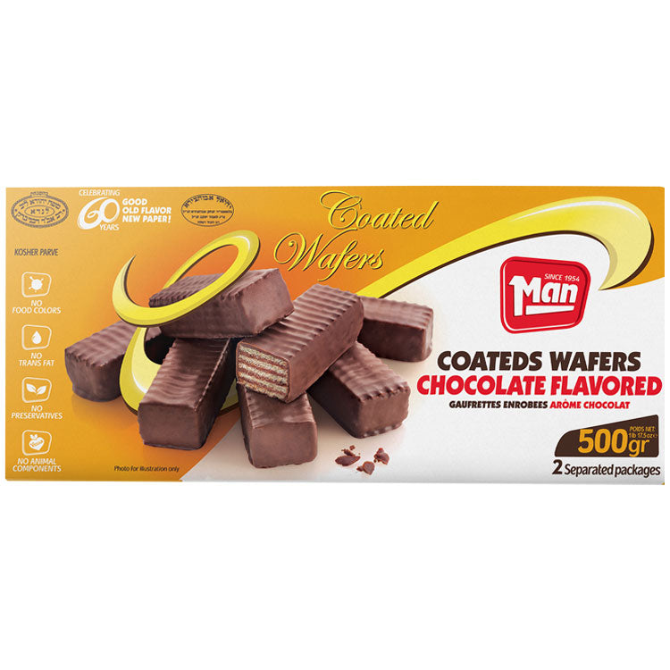 Man Wafers Gaufrettes Chocolate Coated 500Gr