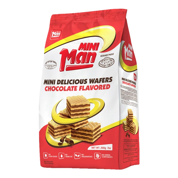 Man Chocolate Wafers Mini Man 200G