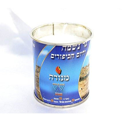 Menora Memorial Candle Tin 24Hr