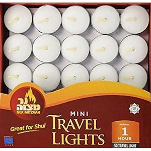 Ner Mitzvah Tealight Candles 5O Pack 1 Hour