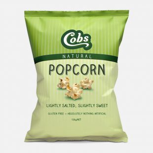 Cobs Popcorn Gluten Free Lightly Salted, Slightly Sweet 120G