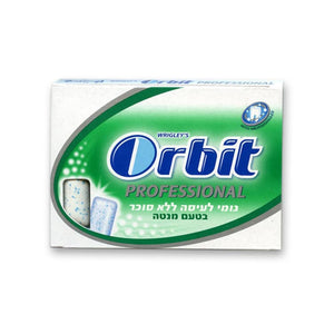 Orbit Proffessional Spearmint - Green Sugar Free 12 x 10 Tabs