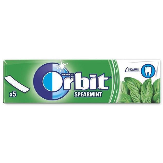 Orbit Spearmint - Green Sugar Free 20 x 5Pk
